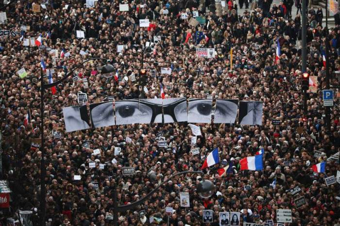 Mass Unity Rally Held In Paris Following Recent Terrorist Attacks